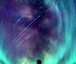 stars, anime, and sky image