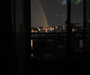 rainbow, aesthetic, and dark image