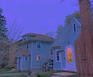 house, grunge, and blue image