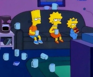 the simpsons, bart, and lisa image