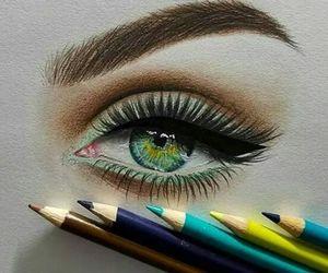 art, eye, and amazing image