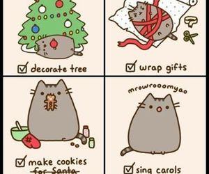 christmas, holidays, and pusheen image