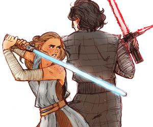 star wars, reylo, and kylo ren image