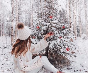 snow, christmas, and white image