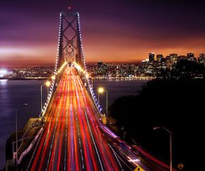 beautiful, bridge, and lights image