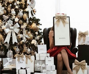 christmas, gucci, and holiday image