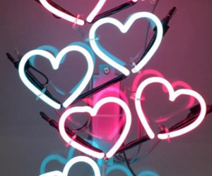 background, hearts, and love image