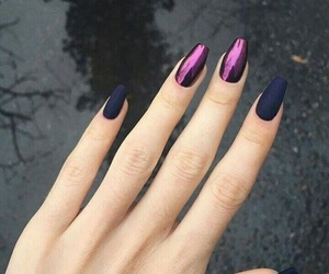 aesthetic, nails, and purple image