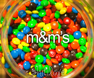 m&m's, candy, and food image