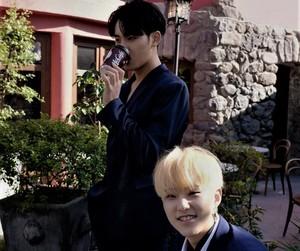 Seventeen, hoshi, and mingyu image