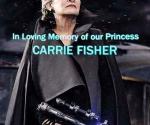 carrie fisher, star wars, and princesa leia image