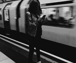 girl, style, and subway image