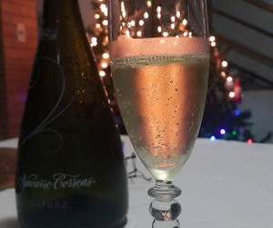champagne, cheers, and christmas image