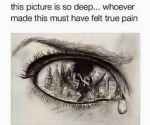 deep, sad, and art image