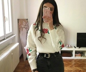 cold, outfit, and selfie image