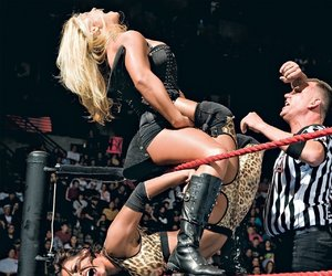 wwe, candice michelle, and beth phoenix image