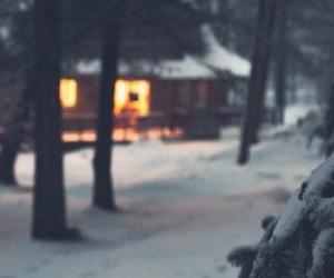 snow, christmas, and cold image