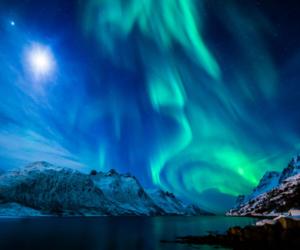 aurora borealis, blue, and nature image
