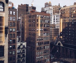 city, new york, and buildings image