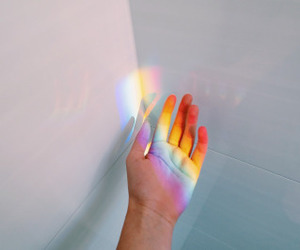 rainbow, hand, and tumblr image