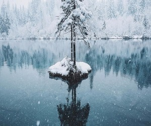 lake, landscape, and snow image