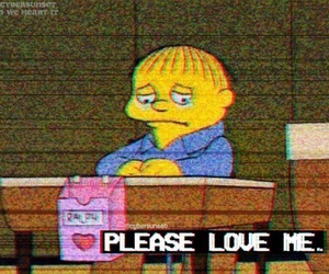 please, sad, and simpsons image