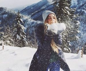 christmas, snow, and fashion image