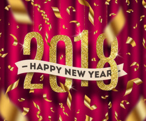 2018 and happy new year image