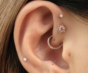 ear, jewelry, and piercing image