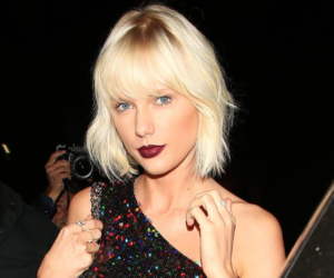 Taylor Swift, white hair, and bang image