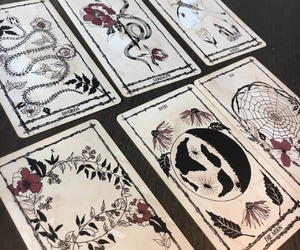 cards, goth, and snake image