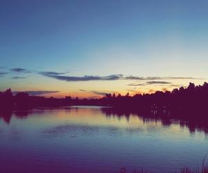blue, dusk, and lake image