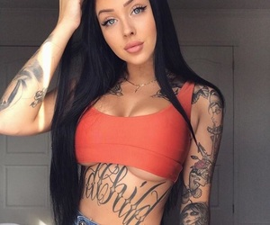 girl, inked, and tattoo image