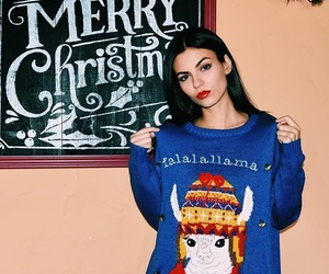 holidays, victoria justice, and christmas sweater image