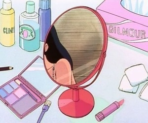 anime, mirror, and aesthetic image