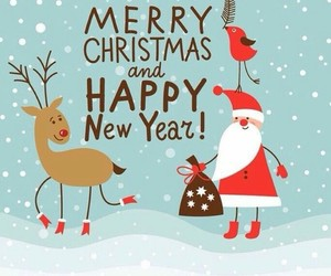 happy new year, merry chrismas, and invierno image
