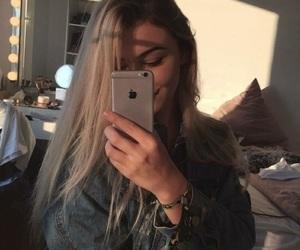 girl, tumblr, and selfie image