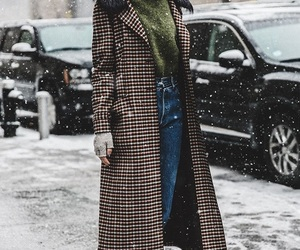 trench, coat, and winter image