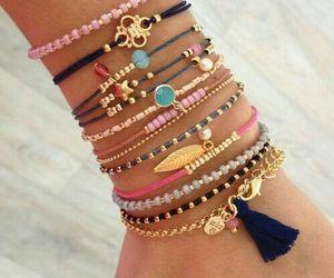 bracelet, fashion, and pink image