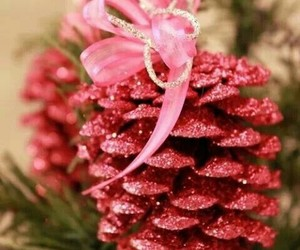 christmas, pink, and decoration image