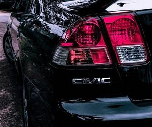 black, car, and Honda image