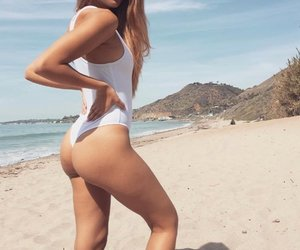 beach, workout, and hotbody image
