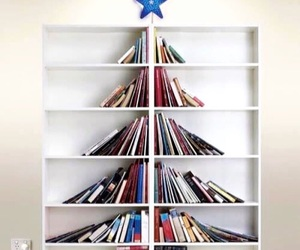 book lovers, bookshelf, and tree image