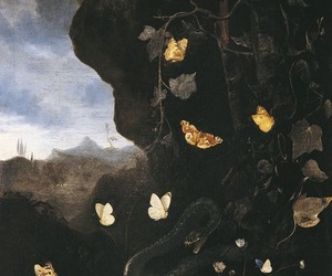 butterflies, old, and art image
