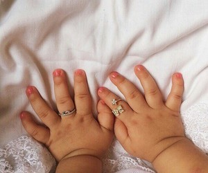 baby, cute, and hands image