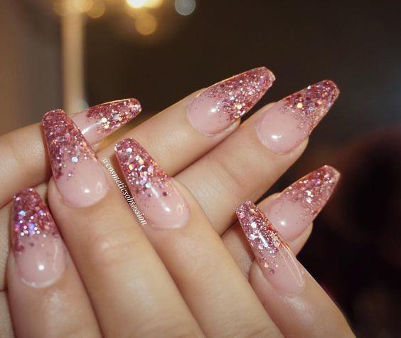 glitter, nails, and glittery image