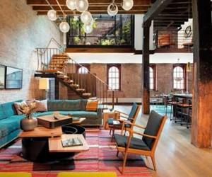 home, interior, and loft image