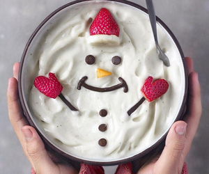 food, christmas, and snowman image