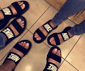 nike, shoes, and slippers image