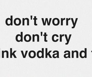 vodka, drunk, and cry image